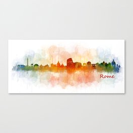 Rome city skyline HQ v03 Canvas Print