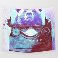 writer Wall Tapestries featuring Grizzly writer by RedGoat