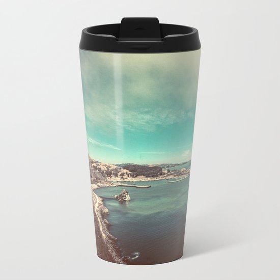 San Francisco Bay from Golden Gate Bridge Metal Travel Mug