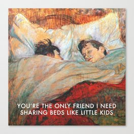 Sharing Beds Canvas Print