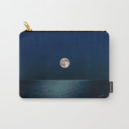 Moon Rising Over Lake Michigan Carry-All Pouch