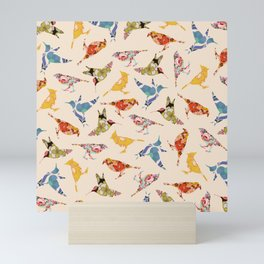 Vintage Wallpaper Birds Mini Art Print
