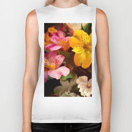 Lily of the Incas Bouquet Biker Tank