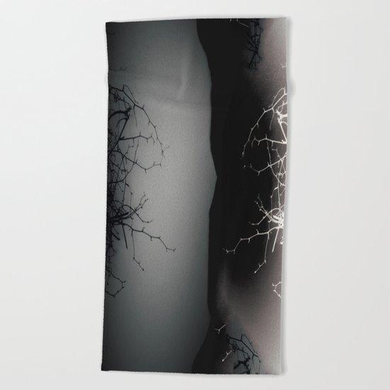 Branching Into Darkness Beach Towel