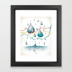 where do fishies come from? Framed Art Print