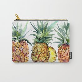 Pineapples, pineapple art design watercolor tropical HAwaiian kitchen art Carry-All Pouch