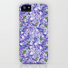 Blue velvety violets iPhone Case