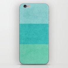 three stripes - teal iPhone & iPod Skin