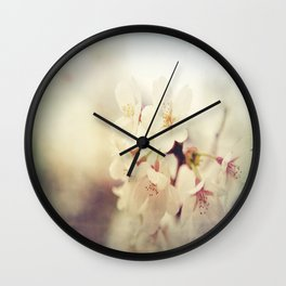 White Poppy Grudge Wall Clock