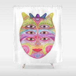 kindly expressed kind of kindness mask Shower Curtain