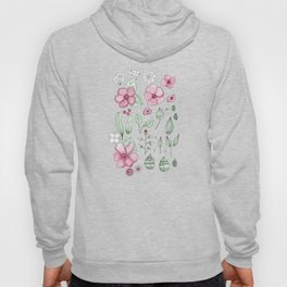Watercolor Flower Hoody
