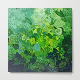Composition #82 (shades of green) Metal Print