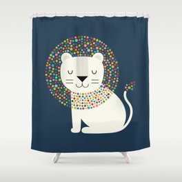 As A Lion Shower Curtain