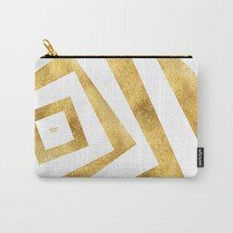 ART DECO VERTIGO WHITE AND GOLD #minimal #art #design #kirovair #buyart #decor #home Carry-All Pouch