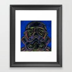 dark stormtrooper with 4 eyes Framed Art Print