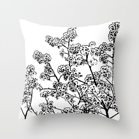 Cherry Blossom #1 Throw Pillow