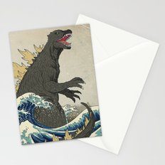 The Great Godzilla off Kanagawa Stationery Cards