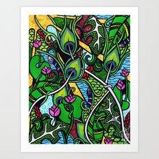 Peacock Paradise Art Print