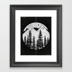 Forest Through the Trees Framed Art Print