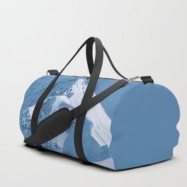 Winter Mountains in Glacier Blue - Alaska Duffle Bag