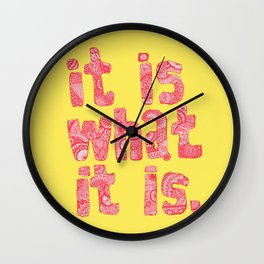 What It Is Yellow Wall Clock