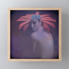 Portrait of the face of spring Framed Mini Art Print