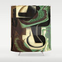 """Juan Gris """"La Grappe De Raisin"""" Shower Curtain"""