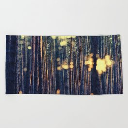 Hide in Trees Beach Towel