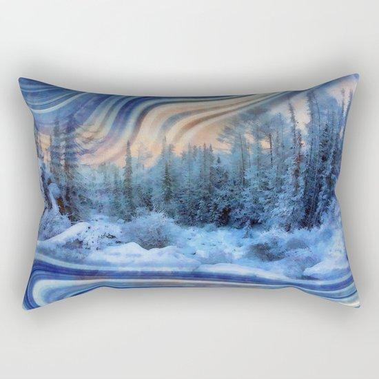 Surreal winter forest Rectangular Pillow