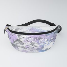 Watercolor Floral Lavender Teal Gray Fanny Pack