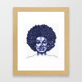 Spiral Afro Framed Art Print