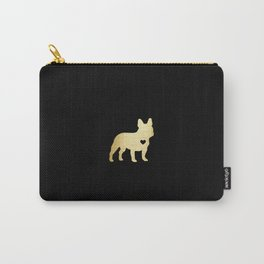French Bulldog Gold Carry-All Pouch
