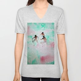African American Boys, The Summer Swimming Hole portrait by Fred Soldwedel Unisex V-Neck