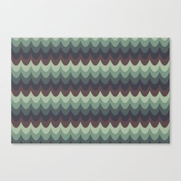 Moody Scallops Canvas Print