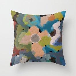 Abstact Flowers Throw Pillow