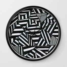 Stripes filled circle Wall Clock