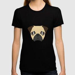 Vector pug T-shirt