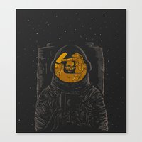 dark side of the moon Canvas Prints featuring Dark side of the moon by Rodrigo Ferreira