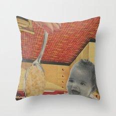 Baby Food Throw Pillow