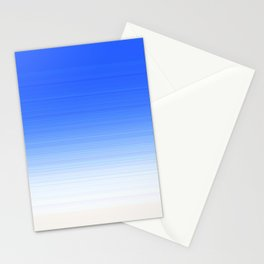 Sky Blue White Ombre Stationery Cards