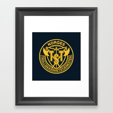 Troll Security Service Framed Art Print
