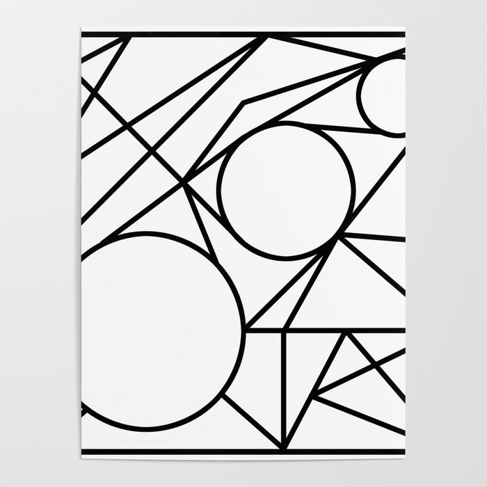 triangles & circles geometry Poster by doomrabbit