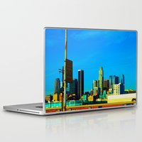 cityscape Laptop & iPad Skins featuring Cityscape by Life Of A Lens Studios