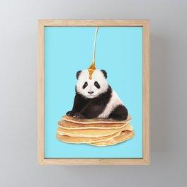 PANCAKE PANDA Framed Mini Art Print