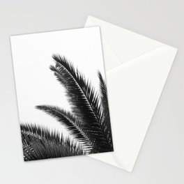 Palm Leaves - Black & White Stationery Cards