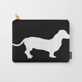 Dachshund on Black Carry-All Pouch