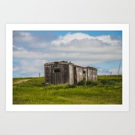 Abandoned Boxcar, Burleigh County, North Dakota Art Print