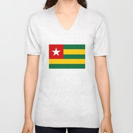 Togo country flag Unisex V-Neck