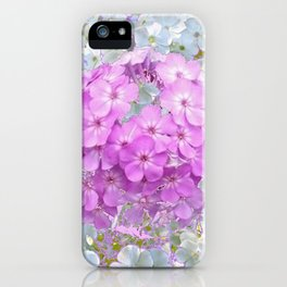 LILAC & WHITE PHLOX FLOWERS iPhone Case