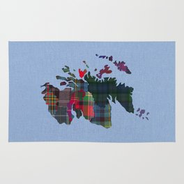 Scotland Counties Fabric Map Art Rug